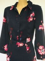 JOULES NAVY FLORAL CARLA SHIRT DRESS NEW SIZES 6-20